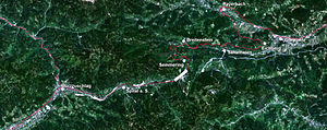 Semmering Pass - Satellite photo of the Semmering