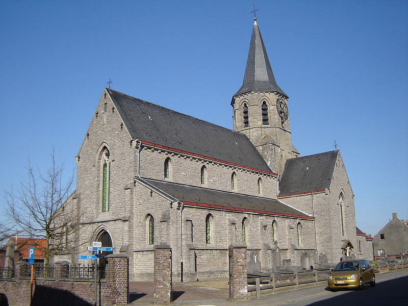 Sint-Pietersbandenkerk (Church of Saint Peter in chains) in Semmerzake. Semmerzake, Gavere, East Flanders, Belgium
