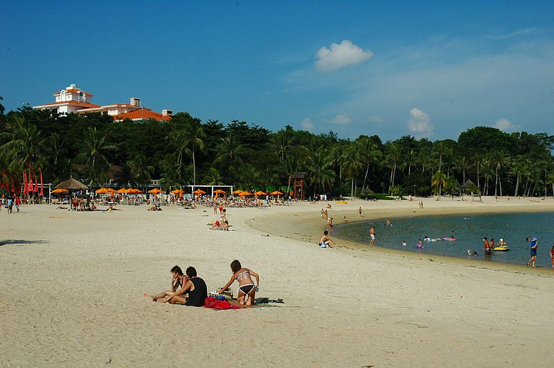 Sunbath in Tanjong Beach