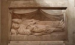 Sepoltura di bernardo re d'italia, figlio di pipino e nipote di carlo magno, con affresco del xvii secolo.jpg