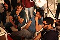 Shahrukh Khan, Adnan Safee and Bappaditya Roy. On the sets of Hyundai i18.jpg