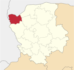 Location of Šackas rajons