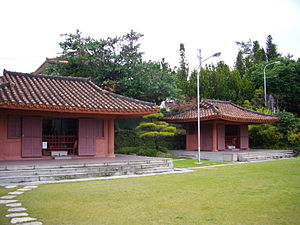 Shiseibyō - Tensonbyō (left) and Tenpigū (right) Taoist shrines.