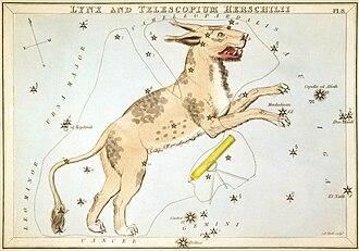 Urania's Mirror - Image: Sidney Hall Urania's Mirror Lynx and Telescopium Herschilii