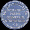 Siegelmarke Die Ortsbehörde zu Matgendorf, Perow, Schwetzin, Wüstenfelde W0343172.jpg