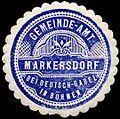 Siegelmarke Gemeinde-Amt Markersdorf bei Deutsch-Gabel in Böhmen W0300998.jpg