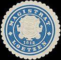 Siegelmarke Magistrat Lötzen-Ostpreußen W0369444.jpg
