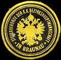 Siegelmarke Seilerbehörde der k.k. Bezirkshauptmannschaft in Braunau W0301255.jpg