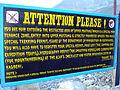 Sign marking the beginning of Upper Mustang area.JPG