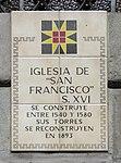 Sign of Iglesia de San Francisco, Quito.jpg