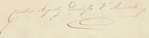 Princess Maria Carolina of Bourbon-Two Sicilies (1822–1869) - Image: Signature of Princess (Marie) Caroline Auguste of the Two Sicilies, Duchess of Aumale