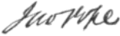 Signature of military officer John Pope.png