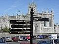 Signpost in car park along High Street Newry - geograph.org.uk - 1497500.jpg