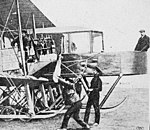 Sikorsky Le Grand engine start Aeronautics September 1913 (cropped, grayscale, contrast stretched).jpg