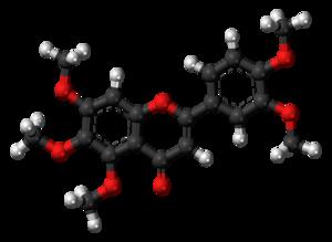 Sinensetin - Image: Sinensetin molecule ball