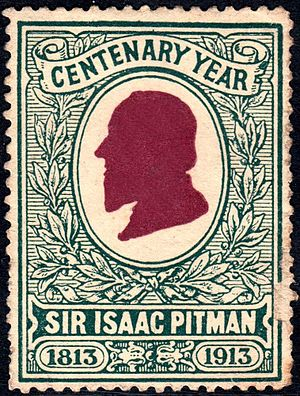 Isaac Pitman - Stamp issued to mark the centenary of Pitman's birth.