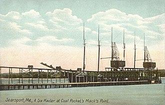 Searsport, Maine - Six-masted schooner c. 1908