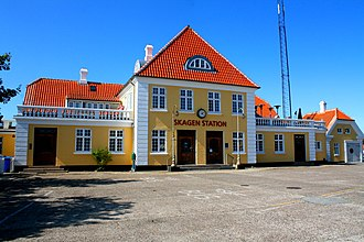 Skagen station - Front facade of Skagen station