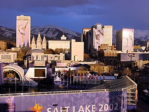 Venues of the 2002 Winter Olympics - Downtown Salt Lake City during the 2002 Winter Olympics