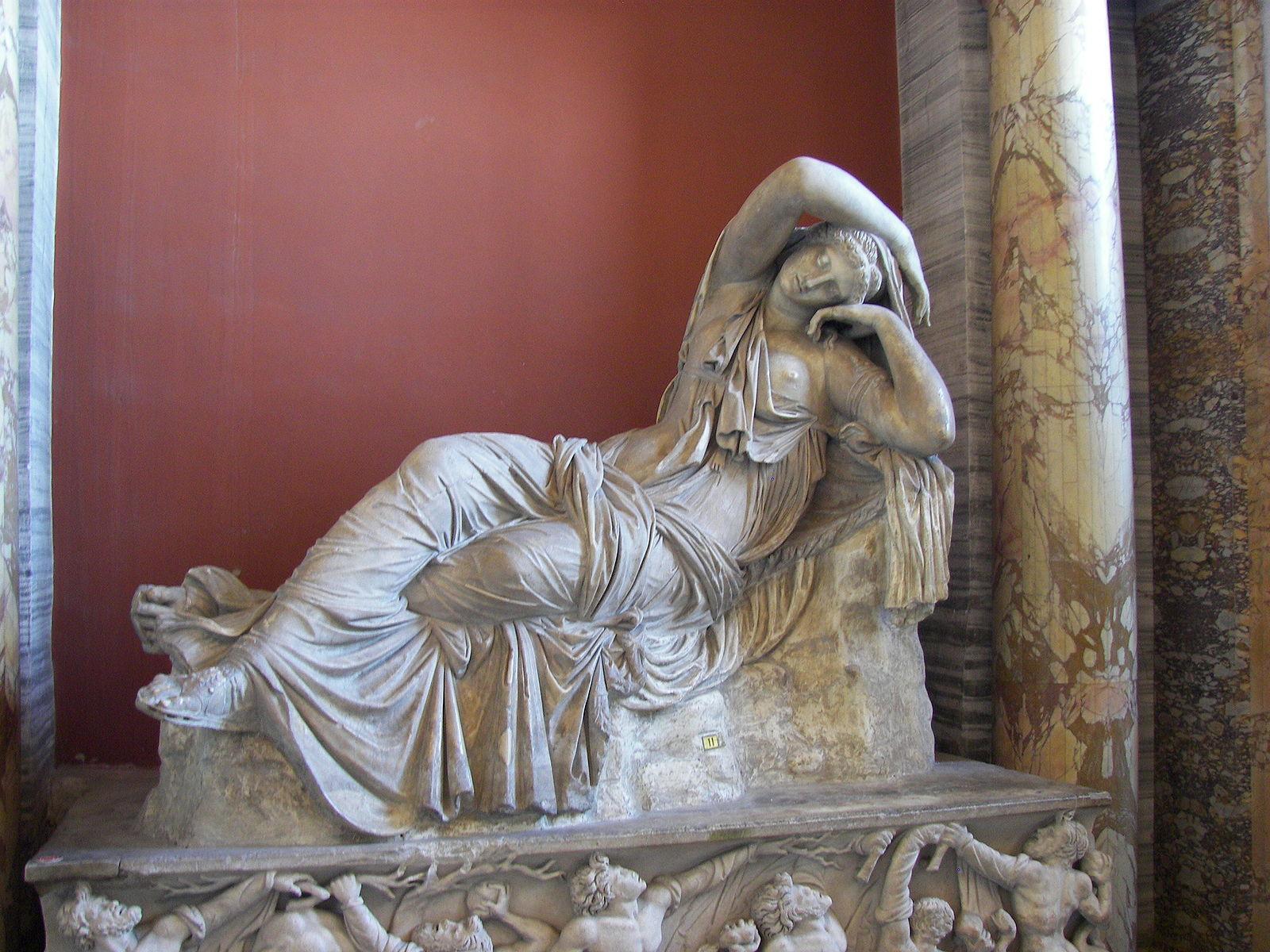 La Cléopâtre du Vatican / Ariane endormie, Musées du Vatican (photographie : Wknight94)