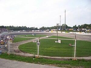 Short track motor racing - Slinger Super Speedway, typical 1/4 mile layout