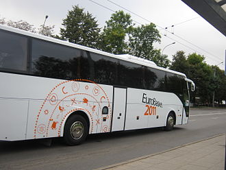 EuroBasket 2011 - Slovenian national team bus in Vilnius