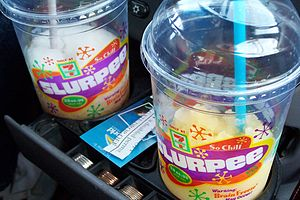 Slurpee - Two large Slurpees.