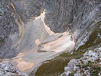 Snezhnika - The Snezhnika glacieret in July 2012