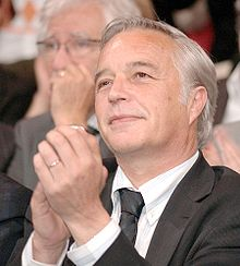François Rebsamen à un meeting, le 29 mai 2007.