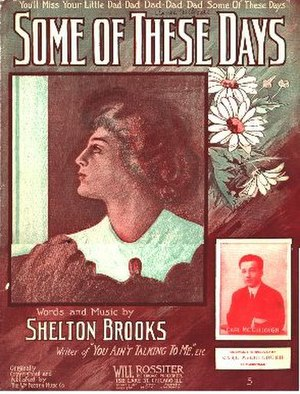 Some of These Days - Image: Some Of These Days 1910cover
