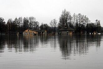 Soomaa National Park - Seasonally flooded farmstead.