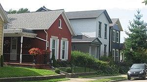 South Park Historic District (Dayton, Ohio) - Houses on Perrine Street