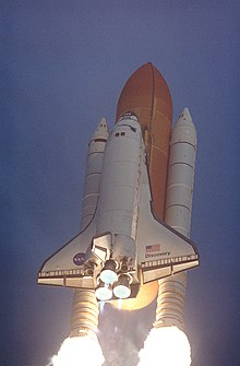 Discovery launches on STS-96