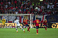 Spain - Chile - 10-09-2013 - Geneva - Arturo Vidal, Javi Garcia and Pedro Rodriguez.jpg