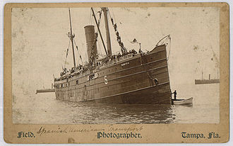 Spanish–American War - The American transport ship Seneca, a chartered vessel that carried troops to Puerto Rico and Cuba
