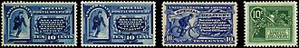 U.S. Special Delivery (postal service) - Image: Special Delivery stamps 1