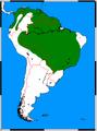 Speothos venaticus range map.png