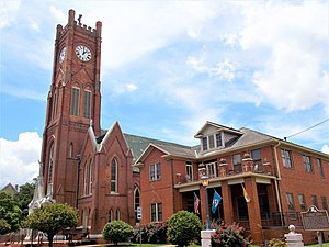 Roman Catholic Diocese of Alexandria in Louisiana - St. Francis Xavier Cathedral and Rectory in Alexandria