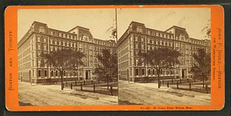 Franklin and Blackstone Squares - St. James Hotel, Franklin Square, Boston, 19th century; photo by John P. Soule