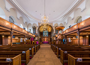 St Alfege Church, Greenwich - Interior view