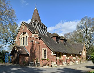 Frimley Green - St Andrew's Church was built in 1911 and is a Grade II listed building.