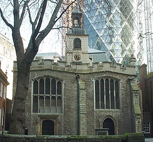 St Helen's Church, Bishopsgate - St Helen's Bishopsgate pictured in 2006
