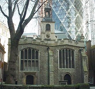St Helen's Church, Bishopsgate - St Helen's Bishopsgate pictured in 2006