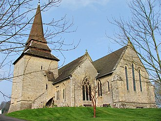 Kington, Herefordshire - St Mary's church, situated on higher ground above the town centre.