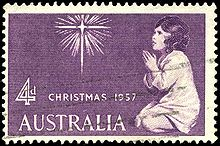 first christmas stamp of australia 1957 - Christmas Stamp