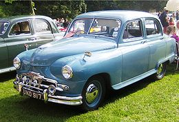 Standard Vanguard Phase 2 blue at Castle Hedingham photo 2008.JPG