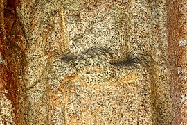 Standing Buddha Triad Carved on the Rock in Donmun-ri, Taean 08.JPG