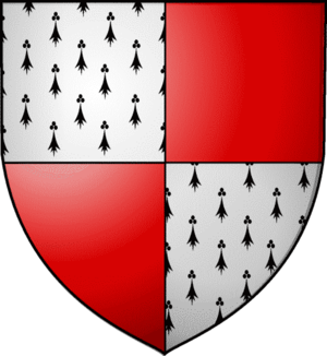 Anne Seymour, Duchess of Somerset - Arms of Stanhope: Quarterly ermine and gules