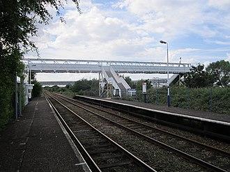 Stanlow and Thornton railway station - On the platform