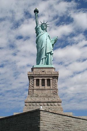 American Dream - For many immigrants, the Statue of Liberty was their first view of the United States. It signified new opportunities in life and thus the statue is an iconic symbol of the American Dream.